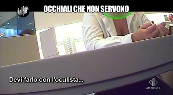 Occhiali che non servono :  un servizio andato in onda sul programma Le IENE di  Italia 1 in prima serata.